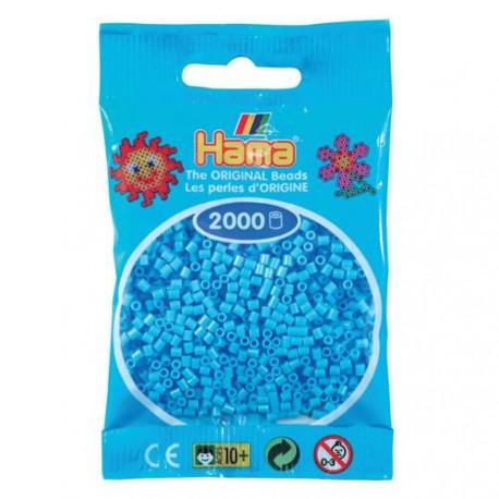 Sachet 2000 Perles Hama Mini - Bleu pastel