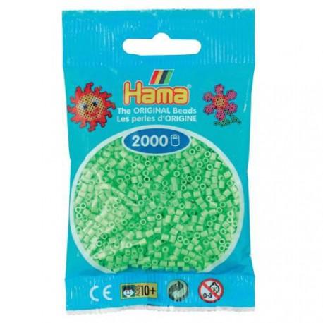 Sachet 2000 Perles Hama Mini - Vert pastel