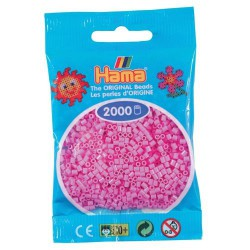 Sachet 2000 Perles Hama Mini - Rose pastel