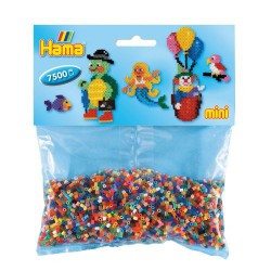 Sachet 7500 Perles Hama Mini - Assortiment 48 couleurs