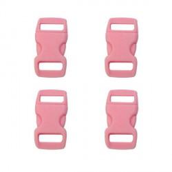 Fermoir clip Paracord Rose 10 mm