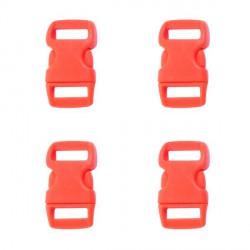 Fermoir clip Paracord Rouge 10 mm