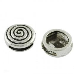 Perle coulissante de métal Spirale plate