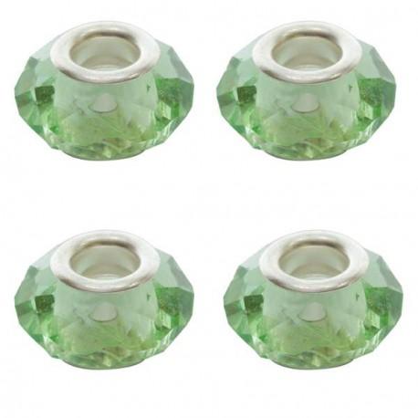 Perle à facettes Vert clair style Pandora - à l'unité
