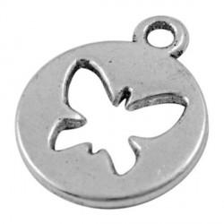 Pendentif breloque en métal Médaillon Papillon