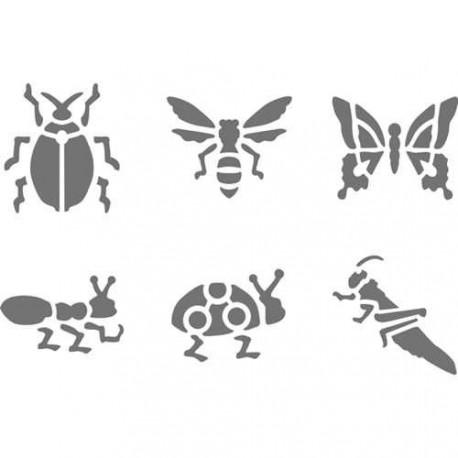 Pochoir plastique Les insectes