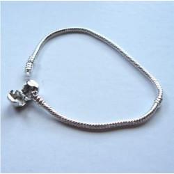 Bracelet style Pandora Fermoir clip 18 cm argenté clair