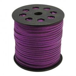 Cordon suédine Violet brillant 3 mm ø