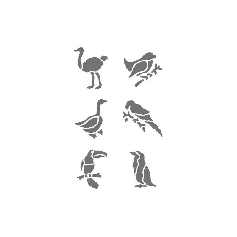 Pochoir plastique les oiseaux for Pochoir oiseau
