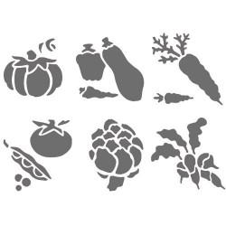 Pochoir plastique Les légumes