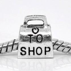 Métal Sac shopping style Pandora - à l'unité