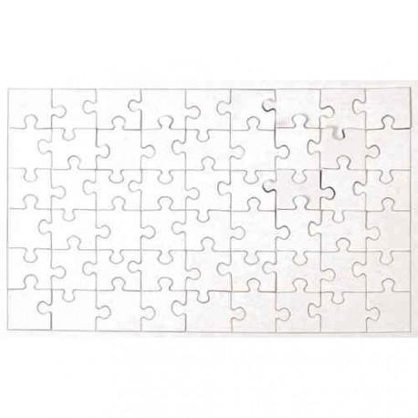 Puzzle en carton blanc à décorer Rectangle 54 pièces