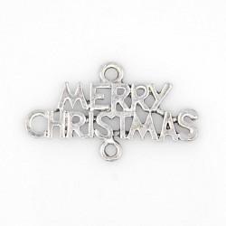 Entre-deux breloque Merry Christmas, argenté