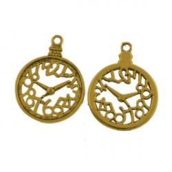 Pendentif breloque en métal Montre Gousset, doré