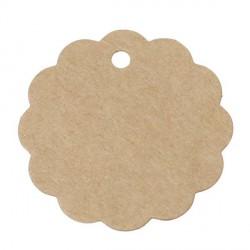 Etiquette Fleur papier cartonné