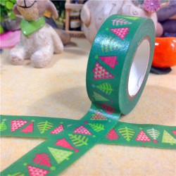 Masking Tape Sapins de Noël - 15 mm x 10 m