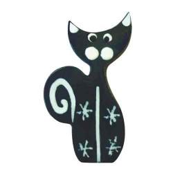 Chat noir Miniatures en bois