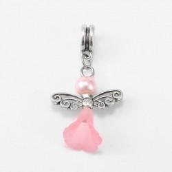 Perle Ange rose style Pandora - à l'unité