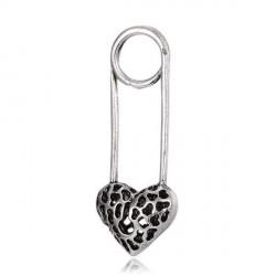 Pendentif breloque en métal Epingle serrure Coeur