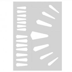 Gabarit de découpe Ethnique 21 x 15 cm