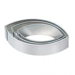 3 emporte-pièces Navette métalliques pour pâte polymère