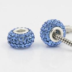 Métal Shamballah bleu style Pandora - à l'unité