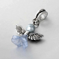 Perle Ange bleu clair style Pandora - à l'unité