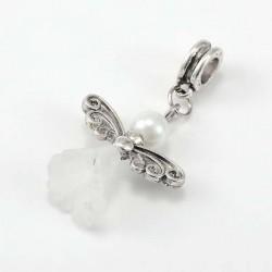 Perle Ange blanc style Pandora - à l'unité