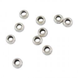 Perle de métal plate ronde - 4 mm - par 10