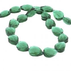 Perle de verre Cristal Pampille 18 x 13 mm, verte
