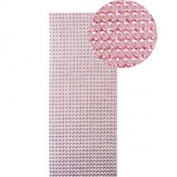 Strass en bande adhésive - 10 x 25,5 cm - Rose