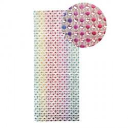 Strass en bande adhésive - 10 x 25,5 cm - Multicolore