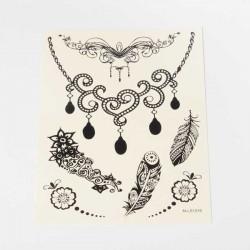 Tatouage temporaire Tattoo Plumes et Pampilles