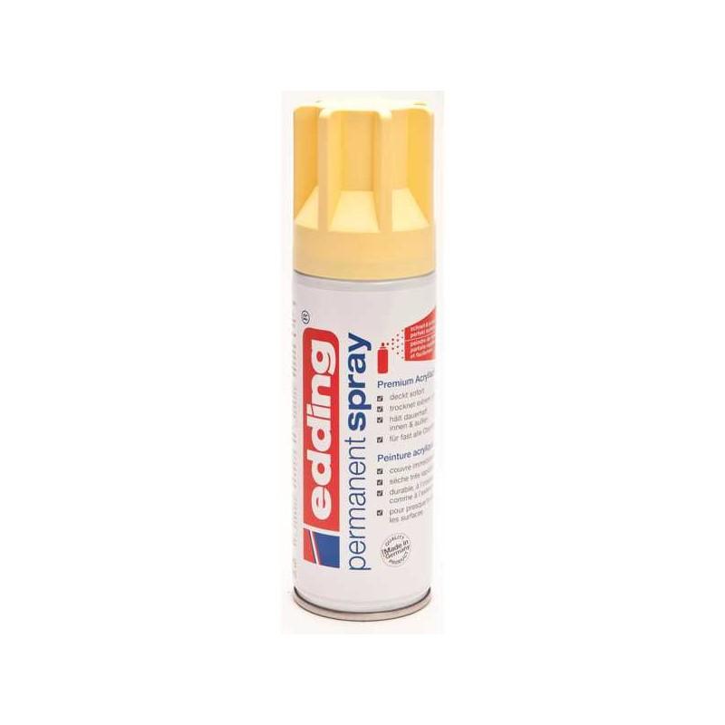 Edding permanent spray peinture jaune pastel mat 200 ml - Jaune pastel peinture ...