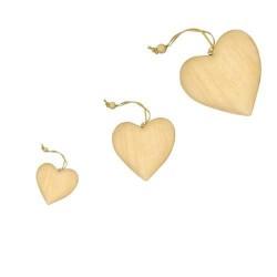 Kit Pendentifs en bois Coeur