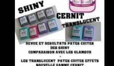 Comparatif Pâte crue et cuite des nouvelles Shiny et Transluscent de Cernit