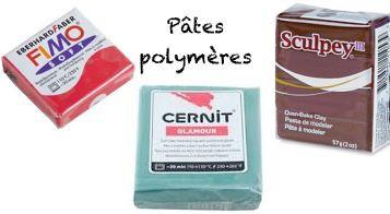 Pâte polymère : Fimo, Cernit, Sculpey et leurs accessoires