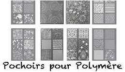 Pochoirs pour pate polymère