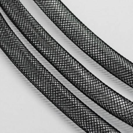 Résille tubulaire Noir, 6 mm ø - au mètre