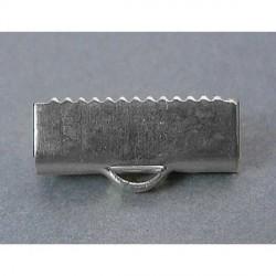 Embout métal pince à griffe 15 x 6 mm - la paire