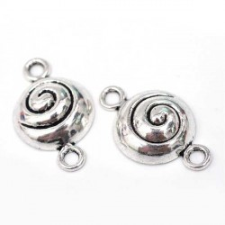Entre-deux breloque Spirale, argenté
