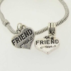 Charm Coeur Friend style Pandora - à l'unité