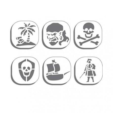 Pochoir plastique Pirates