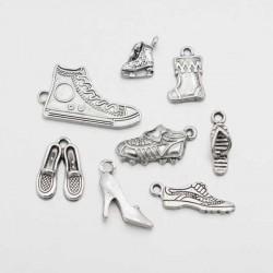 Pendentifs breloques Thème Chaussures x 8