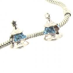 Charm Sapin strass turquoise style Pandora - à l'unité