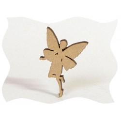 Féerie - fée papillon - Sujet en bois brut