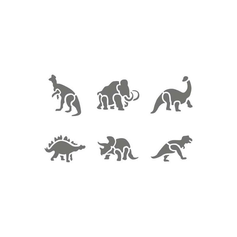 Pochoir plastique animaux pr historiques - Pochoir cuisine a imprimer ...