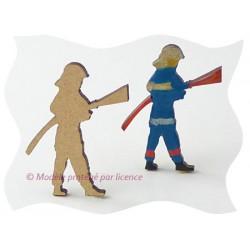 Pompier - pompier lance à incendie Sujet en bois brut
