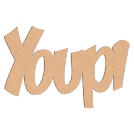 Mot - Youpi Mot en bois brut