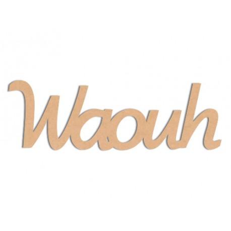 Mot - Waouh Mot en bois brut